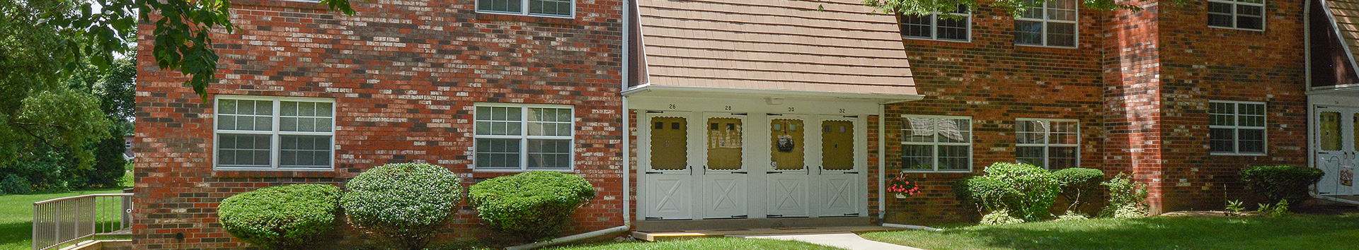 Exterior view of Springetts Apartments at Manor Communities, York/Pennsylvania