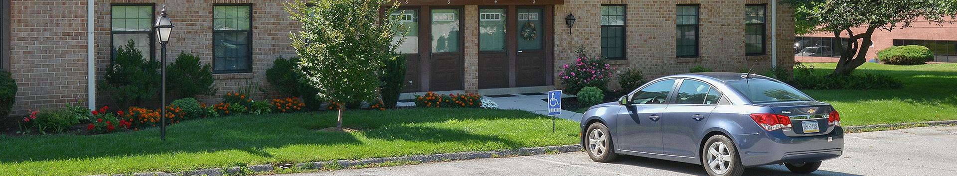 Parking Besides Apartment at Powder Mill Apartments at Manor Communities, York/Pennsylvania